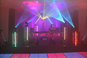 ledlichtvloer DJ Booth Beursstand Saturday Night fever