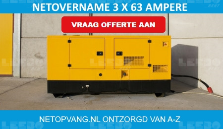 Aggregaat net overname 3 x 63 ampere